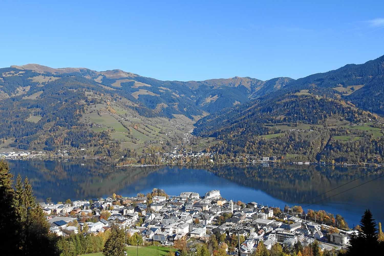 Blich auf Zell am See und Thumersbach