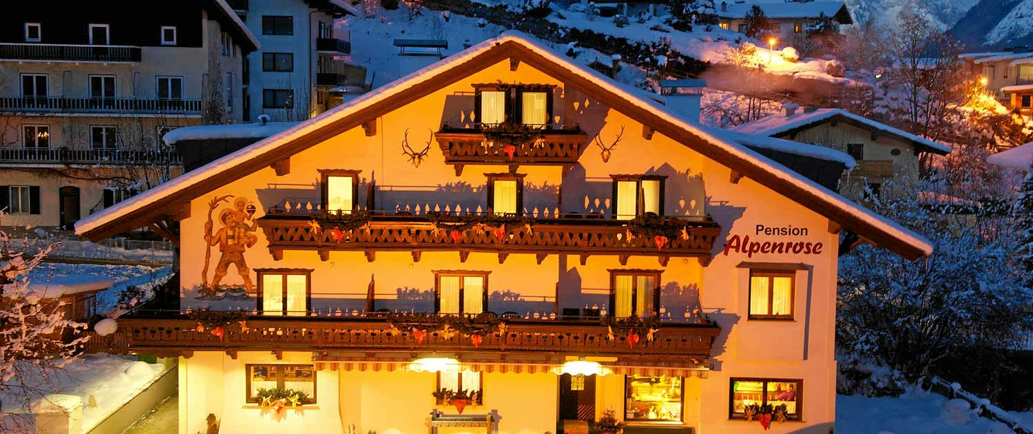 alpenrose-pension-Winteransicht